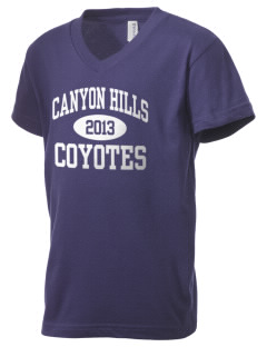 Canyon Hills Junior High School Coyotes Kid's V-Neck Jersey T-Shirt