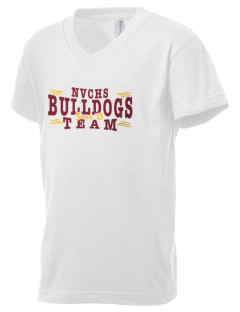 North Valley Continuation High School Bulldogs Kid's V-Neck Jersey T-Shirt
