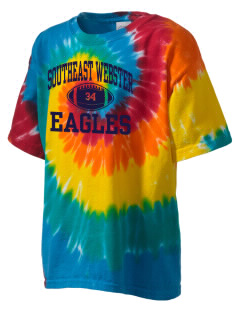 Southeast Webster Middle School Eagles Kid's Tie-Dye T-Shirt