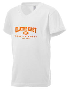 Olathe East High School Hawks Kid's V-Neck Jersey T-Shirt