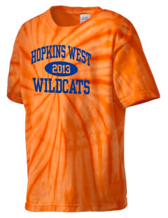 Hopkins West Junior High School Wildcats Kid's Tie-Dye T-Shirt
