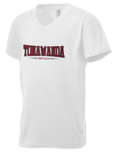 Tonawanda Junior High School Timber Wolves Kid's V-Neck Jersey T-Shirt