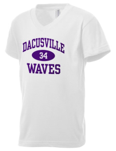 Dacusville Middle School Waves Kid's V-Neck Jersey T-Shirt