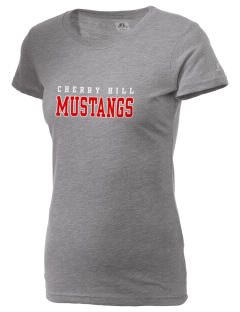 Cherry Hill Elementary School Mustangs  Russell Women's Campus T-Shirt