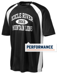 Icicle River Middle School Mountain Lions Men's Dry Zone Colorblock T-Shirt