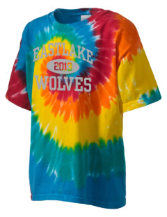 Eastlake High School Wolves Kid's Tie-Dye T-Shirt