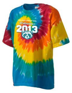 North Woods Elementary School Wolverines Kid's Tie-Dye T-Shirt