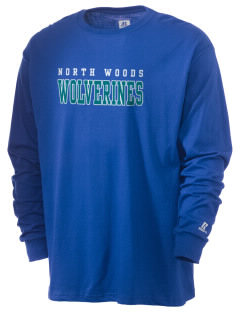North Woods Elementary School Wolverines  Russell Men's Long Sleeve T-Shirt