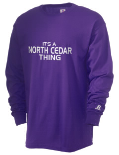 North Cedar Middle School Knights  Russell Men's Long Sleeve T-Shirt