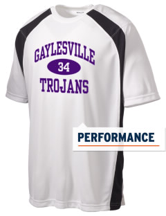 Gaylesville School Trojans Men's Dry Zone Colorblock T-Shirt