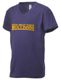 Franklin County Vocational Center Bulldogs Kid's V-Neck Jersey T-Shirt