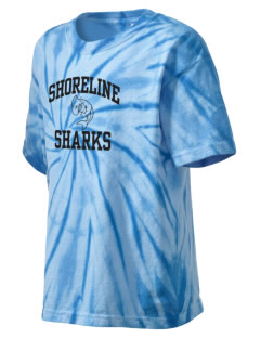 Shoreline Middle School Sharks Kid's Tie-Dye T-Shirt