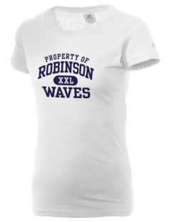 Robinson Elementary School Waves  Russell Women's Campus T-Shirt