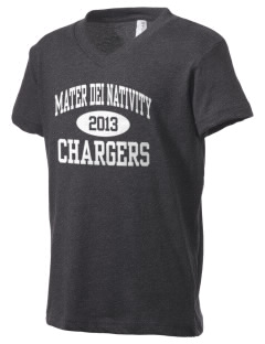 Mater Dei School Nativity School Chargers Kid's V-Neck Jersey T-Shirt