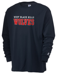 West Black Hills High School Wolves  Russell Men's Long Sleeve T-Shirt