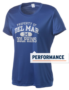 Del Mar Elementary School Dolphins Women's Competitor Performance T-Shirt
