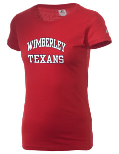 Wimberley High School Texans  Russell Women's Campus T-Shirt