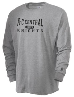 A-C Central High School Knights  Russell Men's Long Sleeve T-Shirt