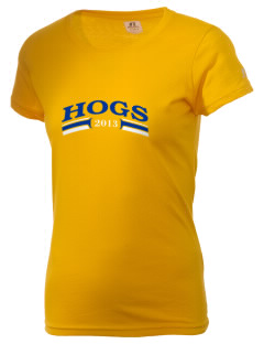 Lee M Waid Elementary School Hogs  Russell Women's Campus T-Shirt