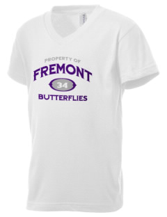 Fremont Community School Butterflies Kid's V-Neck Jersey T-Shirt
