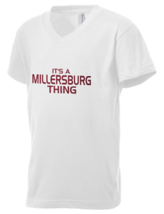 Millersburg Area High School Indians Kid's V-Neck Jersey T-Shirt
