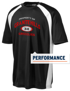 Granite Hills High School Grizzly Bears Men's Dry Zone Colorblock T-Shirt