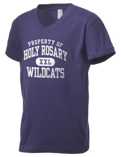 Holy Rosary Academy Wildcats Kid's V-Neck Jersey T-Shirt