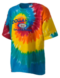 Dollahan Elementary School Dalmations Kid's Tie-Dye T-Shirt