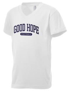 Good Hope Elementary School Mustangs Kid's V-Neck Jersey T-Shirt