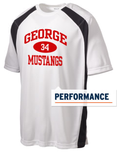 George Community School Mustangs Men's Dry Zone Colorblock T-Shirt