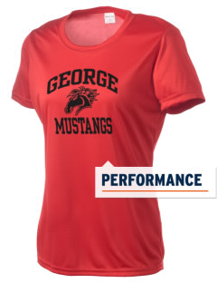 George Community School Mustangs Women's Competitor Performance T-Shirt
