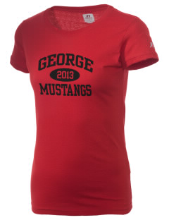 George Community School Mustangs  Russell Women's Campus T-Shirt