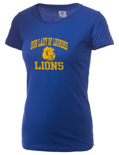 Our Lady Of Lourdes School Lions  Russell Women's Campus T-Shirt
