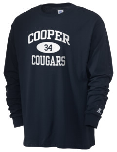 Cooper Elementary School Cougars  Russell Men's Long Sleeve T-Shirt