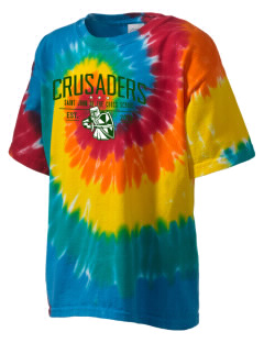 Saint John Of The Cross School Crusaders Kid's Tie-Dye T-Shirt