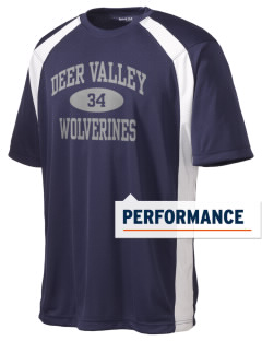 Deer Valley High School Wolverines Men's Dry Zone Colorblock T-Shirt
