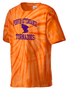 Purvis Attendance Center tornadoes Kid's Tie-Dye T-Shirt
