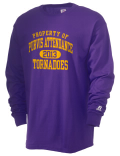 Purvis Attendance Center tornadoes  Russell Men's Long Sleeve T-Shirt