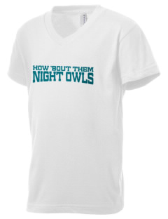 Open Campus High School Night Owls Kid's V-Neck Jersey T-Shirt