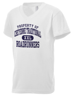 Cheyenne Traditional School Roadrunners Kid's V-Neck Jersey T-Shirt