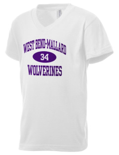 West Bend-Mallard High School Wolverines Kid's V-Neck Jersey T-Shirt