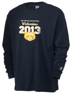 West Bend-Mallard High School Wolverines  Russell Men's Long Sleeve T-Shirt