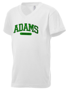 Adams Elementary School Eagles Kid's V-Neck Jersey T-Shirt