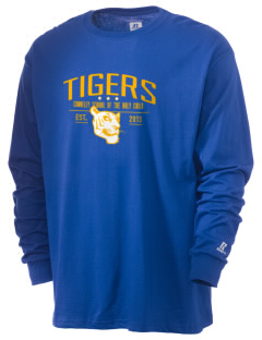 Connelly School Of The Holy Child Tigers  Russell Men's Long Sleeve T-Shirt
