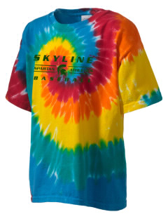 Skyline High School Spartans Kid's Tie-Dye T-Shirt