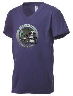 Skyline High School Spartans Kid's V-Neck Jersey T-Shirt