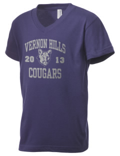 Vernon Hills High School Cougars Kid's V-Neck Jersey T-Shirt