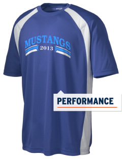 Cairo-Durham Middle School Mustangs Men's Dry Zone Colorblock T-Shirt