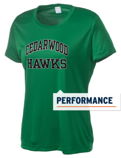 Cedarwood Elementary School Hawks Women's Competitor Performance T-Shirt