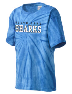 South Lake High School Sharks Kid's Tie-Dye T-Shirt
